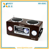 Popular selling outdoor wooden woofer bluetooth active speakers karaoke