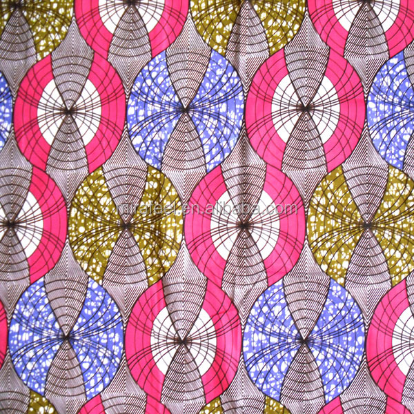 nigeria pink super mirafeel wax afrcian cottton hollandais java cotton wax print fabric