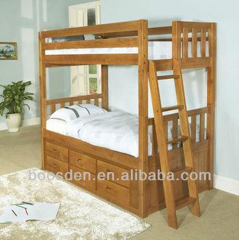 Bedroom furniture wooden bunk storage bed cheap wooden bed bunk bed with drawers bsd 455023 - Cheap bedroom storage ...