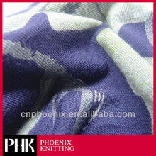 DISCHARGE PRINTED RAYON KNIT FABRIC