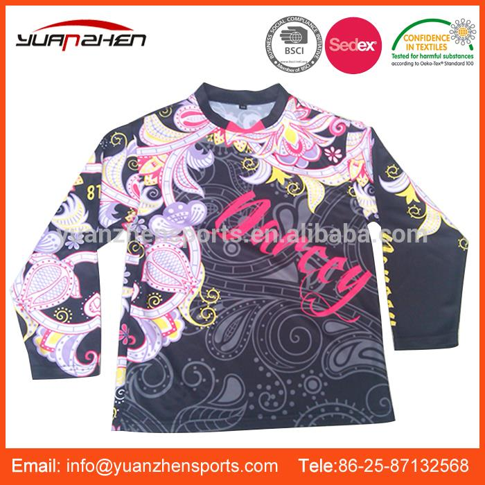 YuanZhen-pass ISO certificate exquisite workmanship custom motorcycle jersey made in china