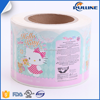 High quality custom printed label tube paper lovely label sticker