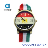 Hot Sale Women Colorful Handmade Nylon Fabric Wrist Watches
