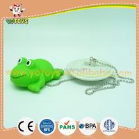 A bathtub plug with vinyl duck bath toys, OEM baby bathtub plug item