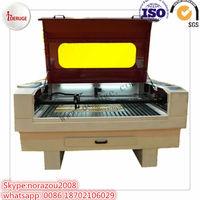 Deruge High precision double heads cnc laser machine/co2 laser engraving machine/laser cuting