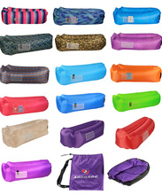 2017 custom air beds sleeping bag inflatable lounger kids outdoor backpack pocket