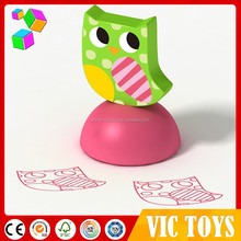Popular self inking kids stamp/Self ink wooden kids stamp/kids toy stamps for sale
