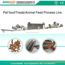 Extruded cat food process line