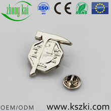 Custom creative sliver metal badges, with custom personalized logo, ODM/OEM service is provided