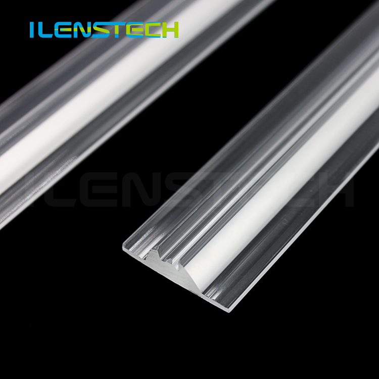 Optical PMMA extruded lenses craft /linear lens for 3030 3535 5630 led 30 60 degree strip for wall washer light