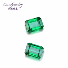 Custom design colombian princess cut natural emeralds for sale