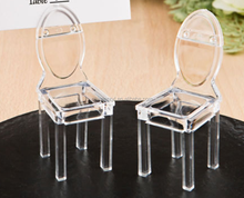 Promotional Acrylic wedding Chair for Place Card Wedding Shower Party