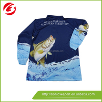 Wholesale Fishing Shirts Quick Dry Fishing Clothing Dry Fit Fishing Wear with hoody