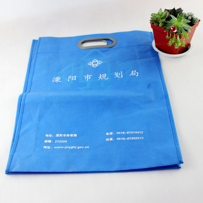 wholesale custom non woven rice punching bag with plastic handle