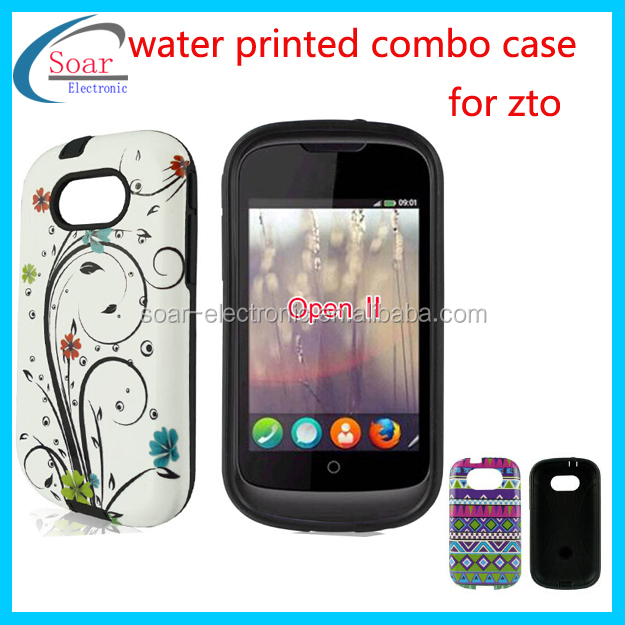 custom design 2 in 1 combo hybrid printed machine phone case for zte open II