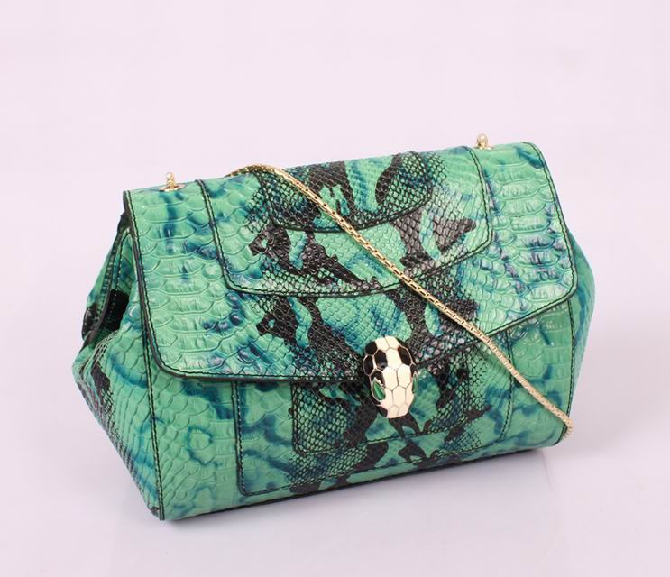 latest nice quality green genuine leather branded women handbag with snake skin print,ladies hand bag