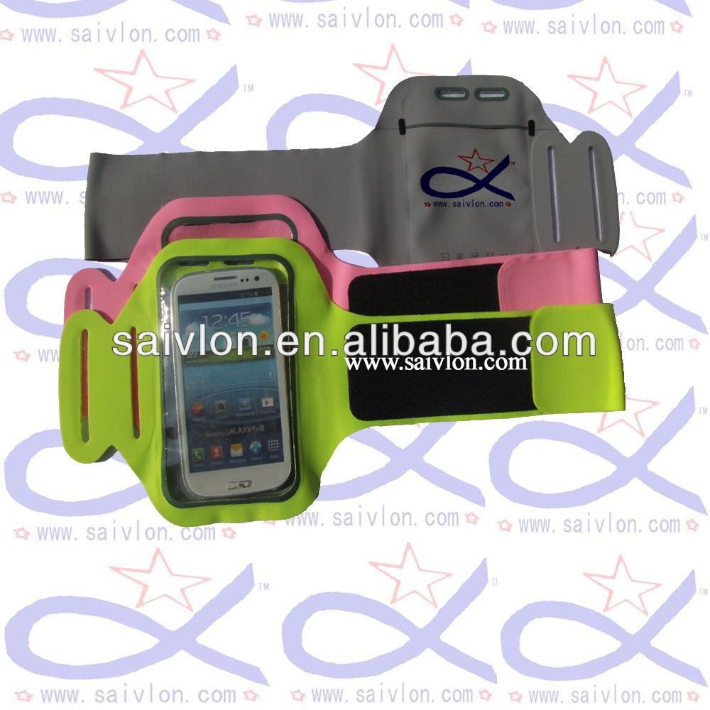 custom smart phone pouch, phone armband with OEM logo with various colors