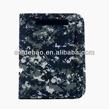 Wholesale personalized portfolio file folder,3 ring binder portfolio with zipper closure,custom camouflage a3 size portfolio bag