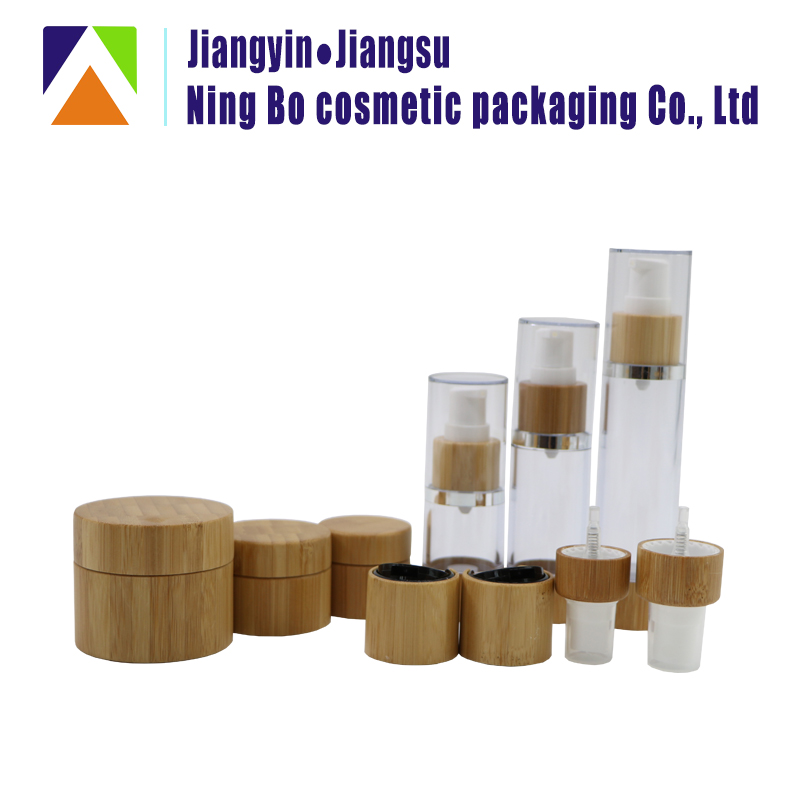 New All natural cosmetic Bamboo cream jars / essential oil /perfume bottle wholesale