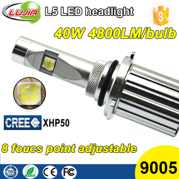 2016 Newest Super Bright fanless All in One 40W 4800lm Crees XHP50 L5 9005 Car led headlight kit bulbs 9005 Conversion