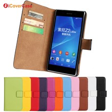 Phone Accessories Mobile Leather Wallet Case for Sony Xperia Z2 D6503 Flip Cover Capa Para Funda Coque