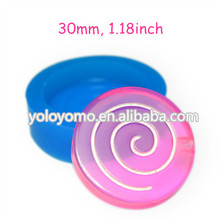KYL080 Round Lollipop Silicone Mold for Sugarcraft Fondant Fimo Clay Chocolate Marshmallow Cotton Candy Cookie Sugar Wax 30mm
