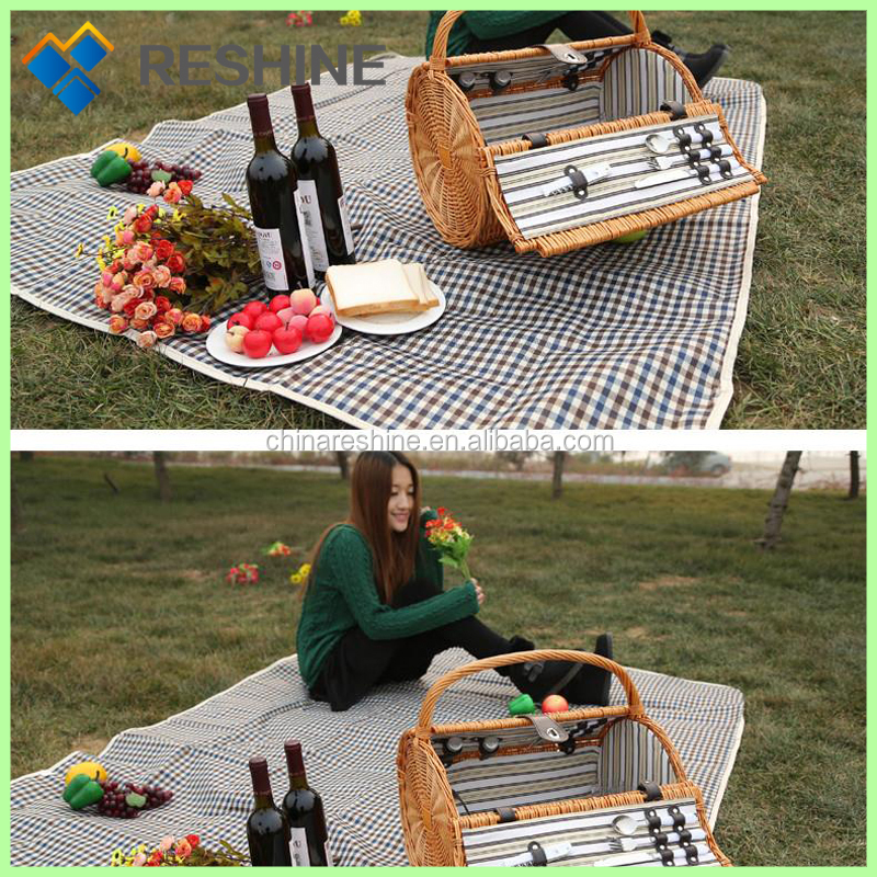 promotion and high quality wicker picnic basket set