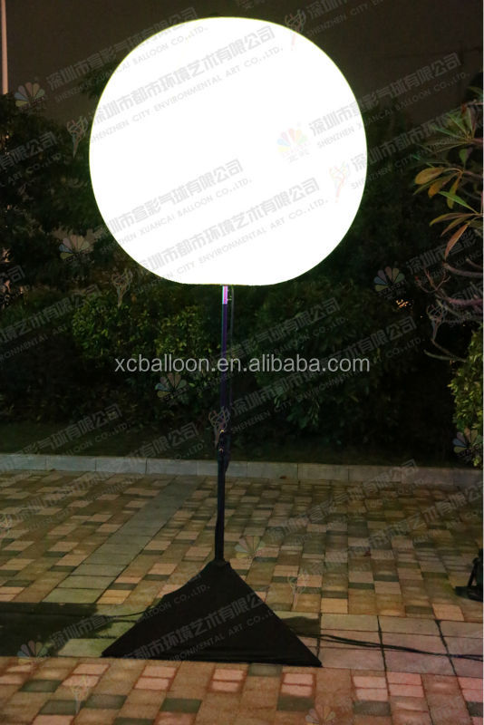 China whosale waterproof standing outdoor advertising led lit balloons