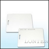 White Thin EM 4100 id Card for RFID Access Control System, 125KHz/ 13.56MHz and Smart Sensor