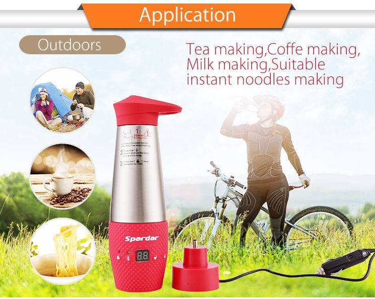 Mini 348ml Milk Coffee Water Heat Boiling Electric Cup