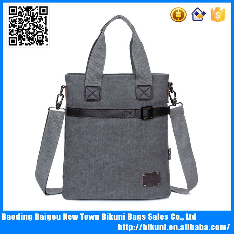 Online casual canvas and leather bag mans vintage handbags wholesale