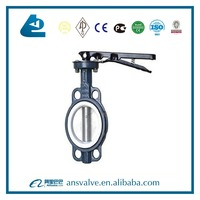 Stainless steel Chemical engineering PTFE Sealing butterfly valve