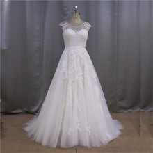 Gorgeous fast delivery cowl neck two pieces top and skirt mermaid wedding dress