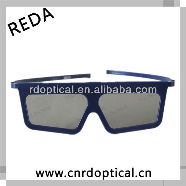 Blue ABS plastic frame linear polarized 3d glasses to watch movies directly for you