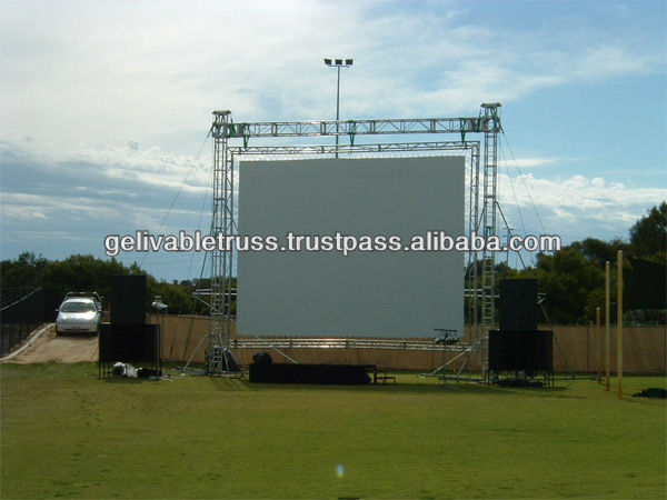 LED screen projector support truss structure