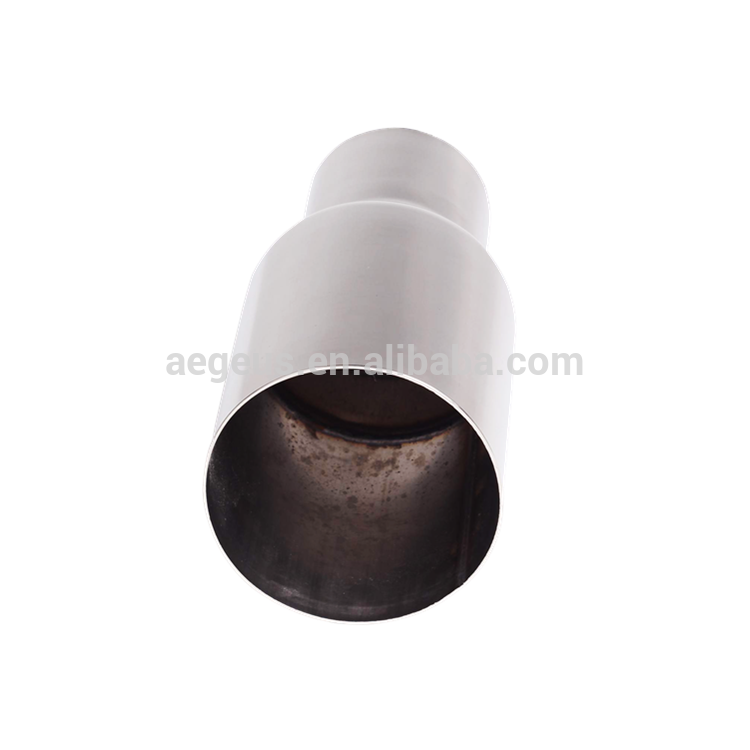"High quality auto parts 2PCs Straight Cut Exhaust Pipe Tips 2.5"" Inlet 3.5"" Outlet Stainless Steel"
