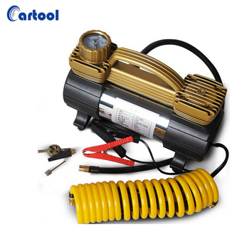 Double Cylinder 150PSI Mini Car Air Compressor Tire Inflator with Carry Bag