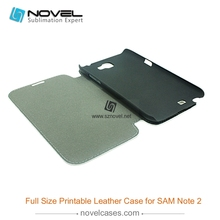 High quality PU Leather 3d cell phone case for Samsung Galaxy Note 2