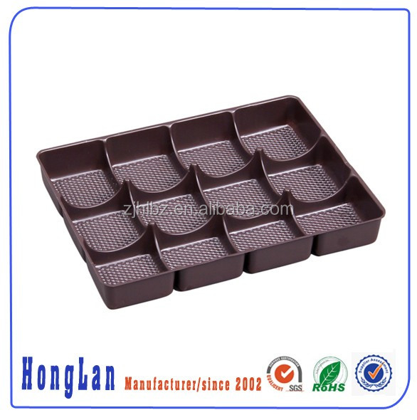 Customized disposable plastic blister plate/packing tray/compartment tray