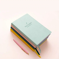 2019 Customized PU Leather Embossed Logo Note books