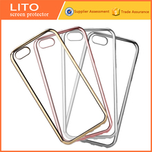 Hot selling colorful electroplated mobile phone accessories for iphone 5c tpu case