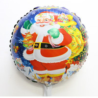 18inch Santa Claus foil balloons Christmas party supplies mylar ballons