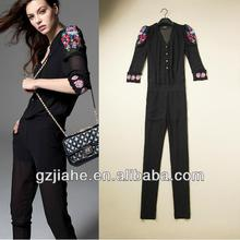 New Fashion Modern stylish women jumpsuit lace style sleeve leisure suits