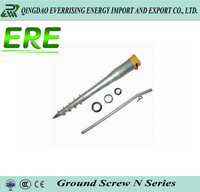 Durable ground screw for fence with CE approval