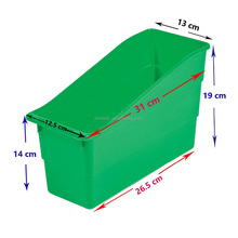 Hot Sale Interlocking Book Bins Popular Classroom Magazine Organizers Custom Cheap Plastic Green Durable Book And Binder Holders