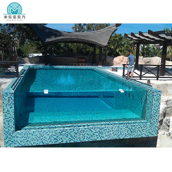 Custom acrylic glass for swimming pools, acrylic panels for swimming pool