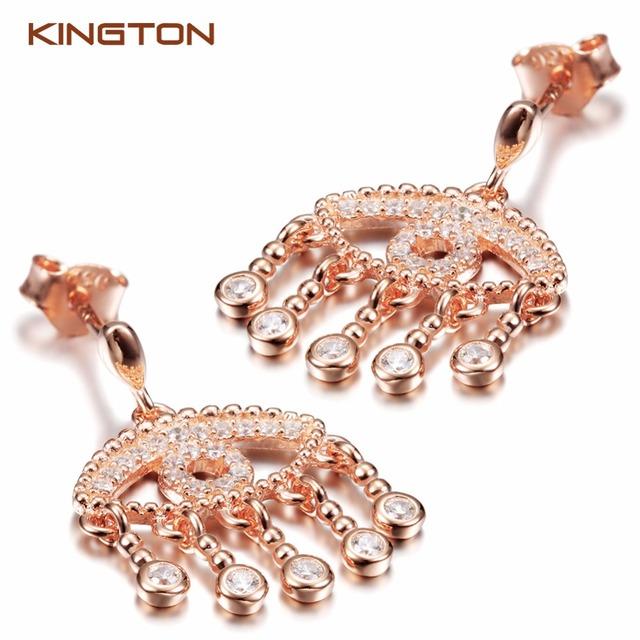 Shell Sterling Silver Zircon Earring Women Italian Jewelry