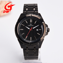 New 2018 hot sell Men japan movt watch stainless steel black with quartz
