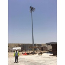 20M 25M 30M High Mast Lighting Pole For Stadium