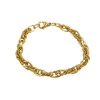 new arrival charm 18k gold plated chain bracelet for women and men